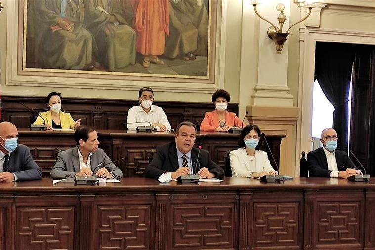 Il rettore Mariotti e i Prorettori (foto Marras)