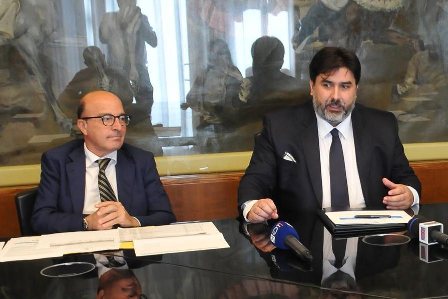 Christian Solinas con l'assessore alla Sanità Nieddu (Archivio L'Unione Sarda)