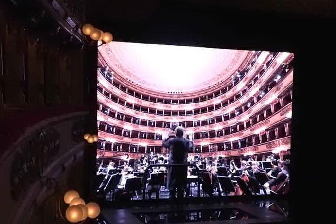 Al teatro alla Scala va in scena la prima senza pubblico