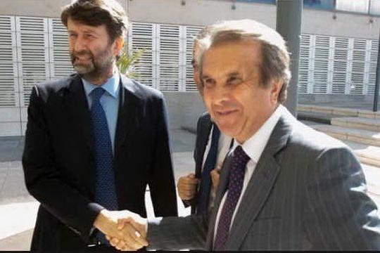 Claudio Orazi, sovraintendente del Teatro lirico di Cagliari col ministro Franceschini