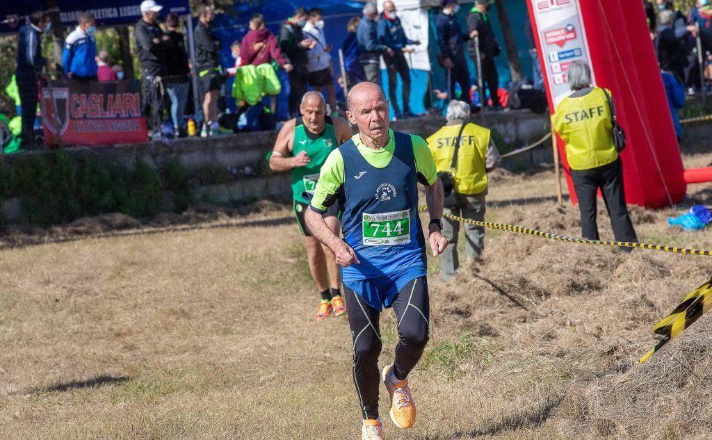 Giuseppe Antonio Addis, campione sardo di cross M80 (foto Arnaldo Aru)