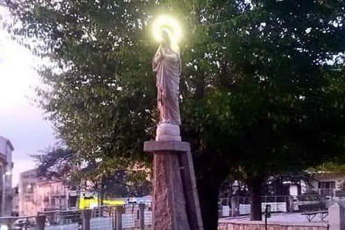 Calangianus, riaccesa la corona della Madonnina