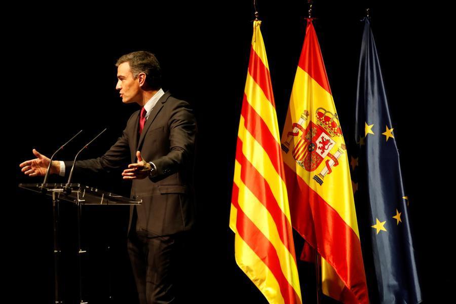 Pedro Sanchez a Barcellona (Ansa)