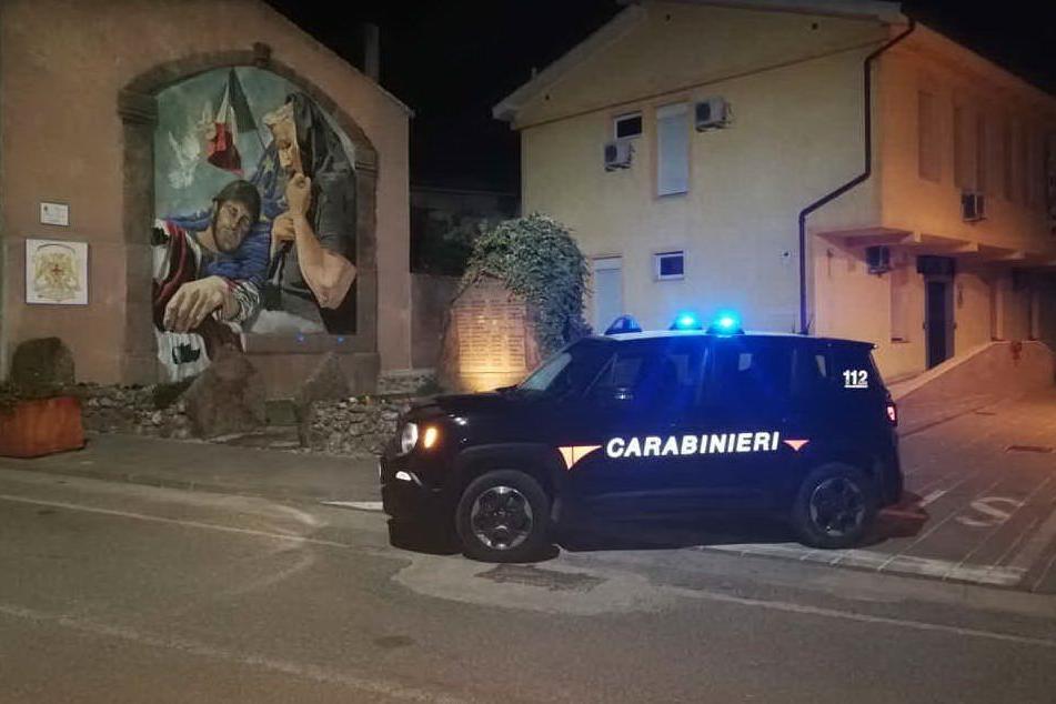 I militari a Dualchi (foto carabinieri)