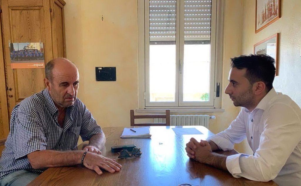 L'incontro tra sindaco e assessore (foto ufficio stampa)
