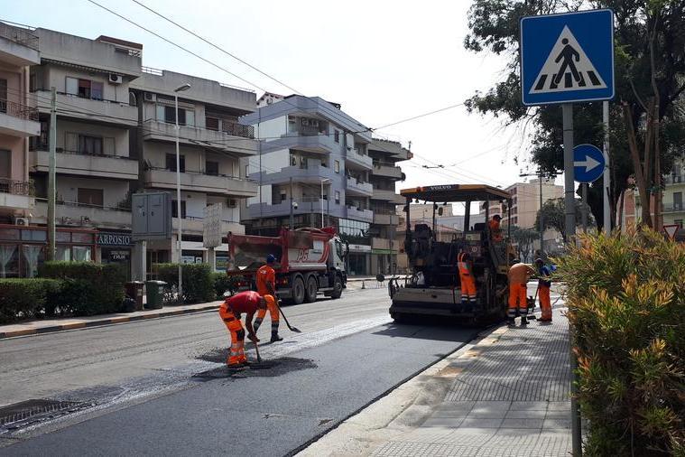 Quartu, vialeMarconi riapre al traffico