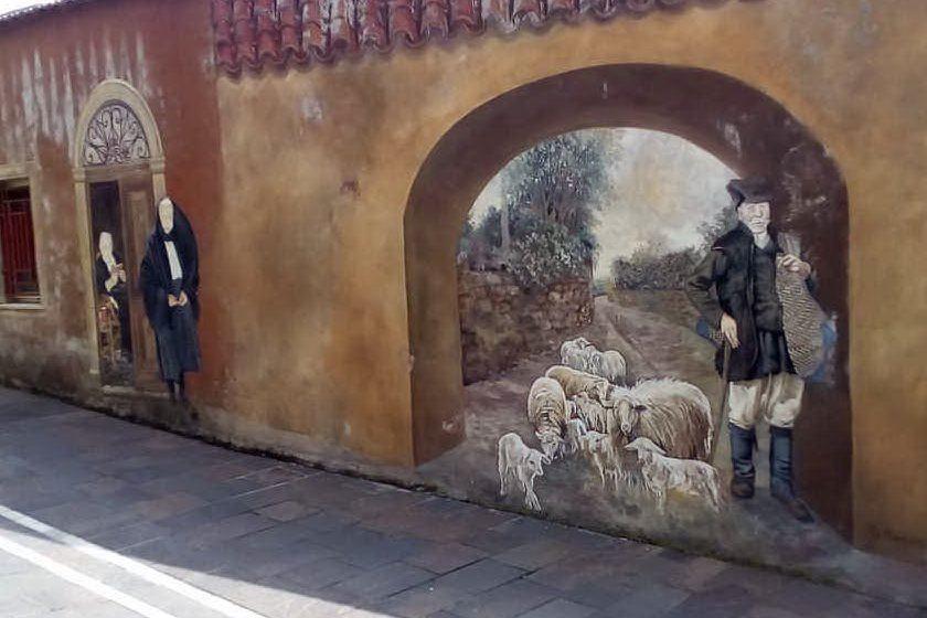 Uno dei murales di Bessude