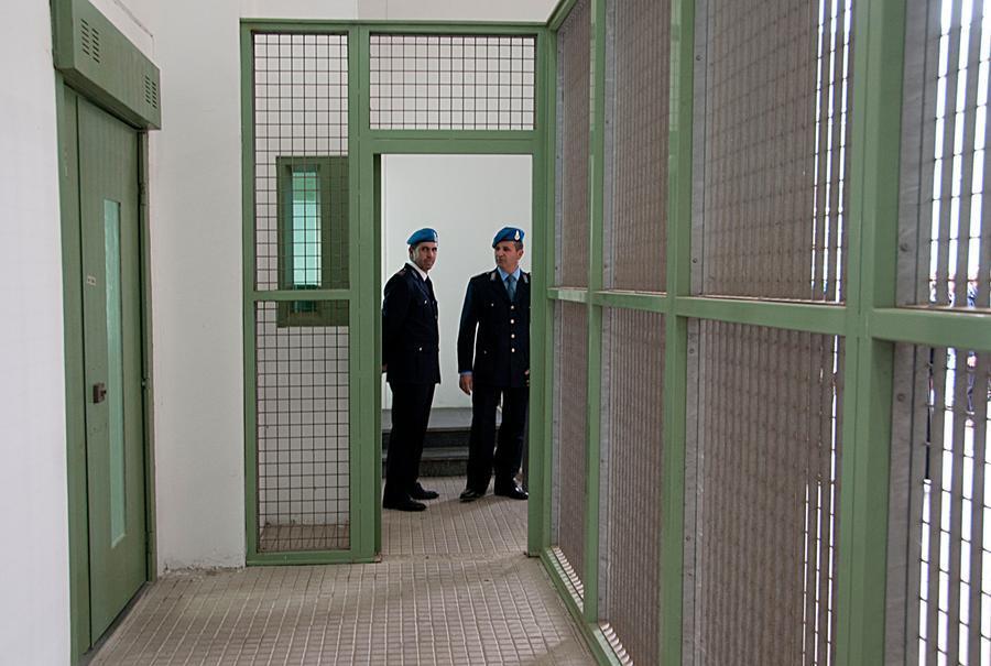 Interno del carcere di Massama (foto archivio L'Unione Sarda)