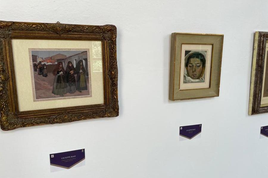 Le opere in mostra (Foto Sirigu)