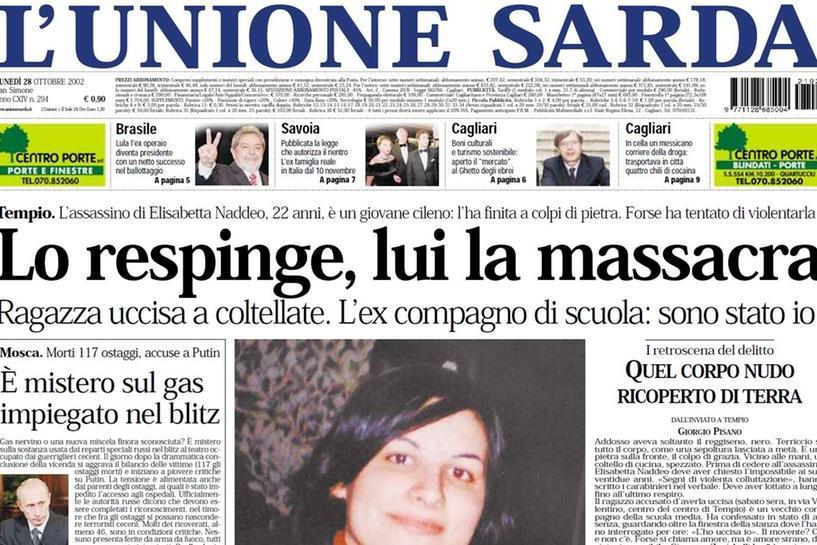 #AccaddeOggi: 27 ottobre 2002, la 22enne Elisabetta Naddeo massacrata a Tempio