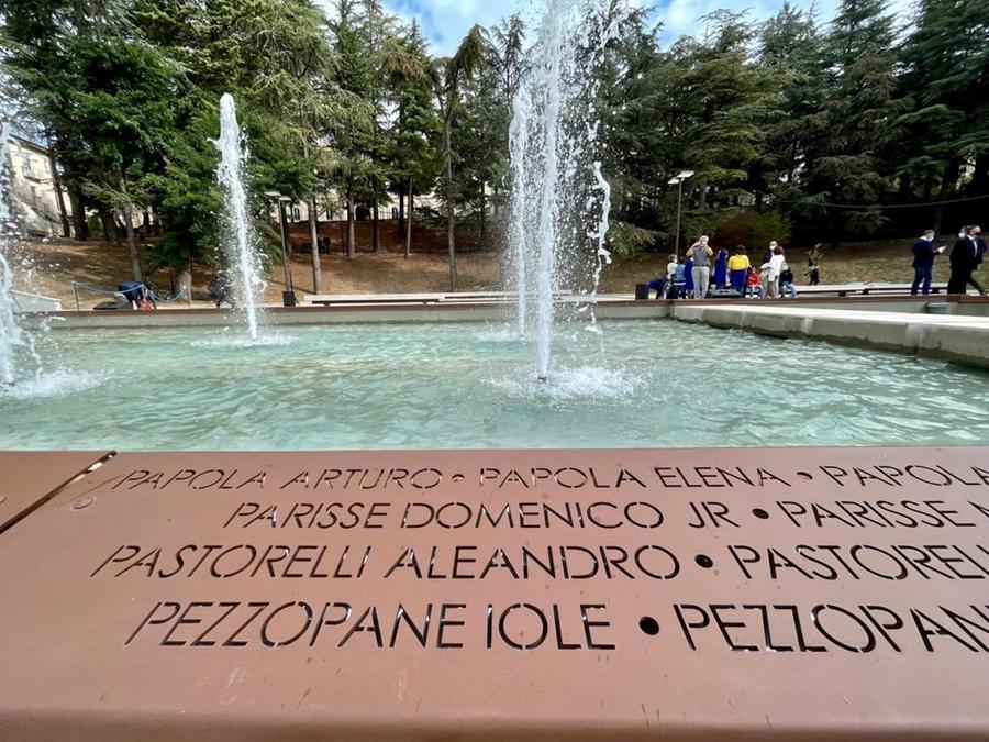 Il Parco della Memoria de L'Aquila (foto Ansa)