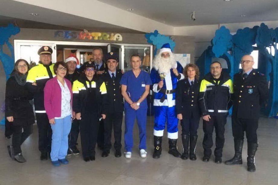 La visita della Polizia locale al Brotzu
