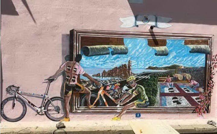 A Tortolì un murale ricorda lo sportivo marchigiano (Archivio L'Unione Sarda)