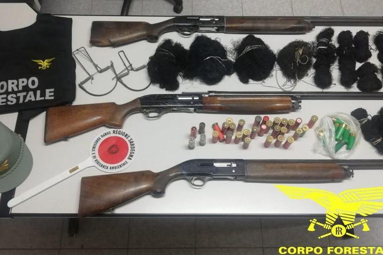 Operazione anti-bracconaggio nel Cagliaritano: nei guai due cacciatori di frodo