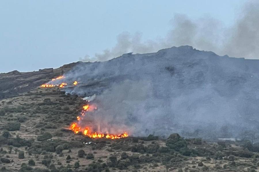 Villagrande Strisaili, battaglia contro le fiamme