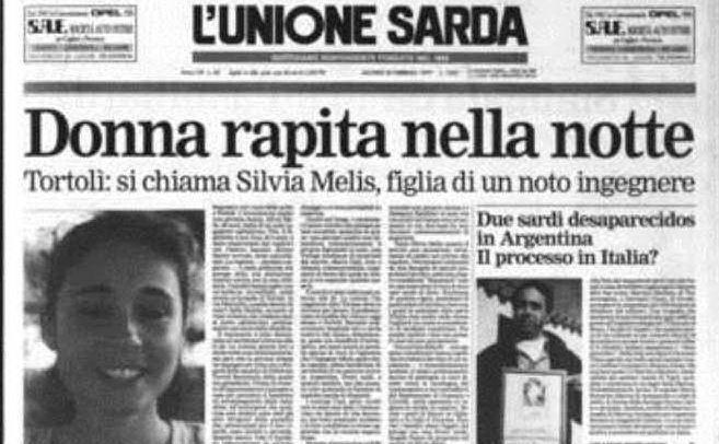 #AccaddeOggi: 20 febbraio 1997, viene rapita Silvia Melis, giovane 27enne di Tortolì