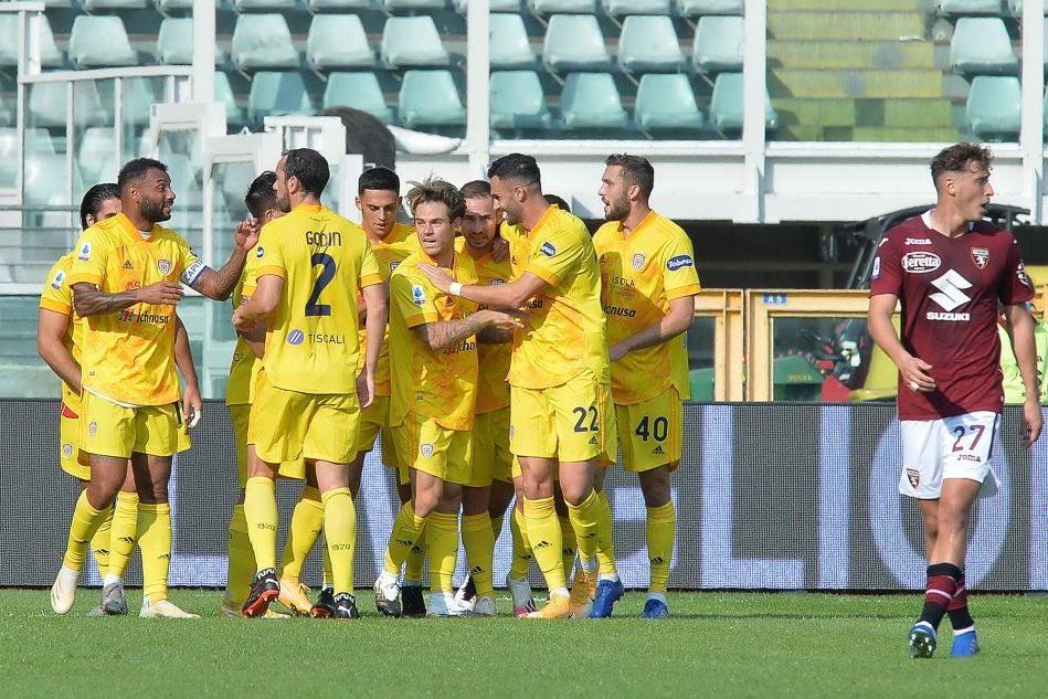 La gioia del Cagliari (Ansa)