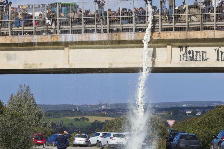 Una protesta degli allevatori (Archivio L'Unione Sarda)