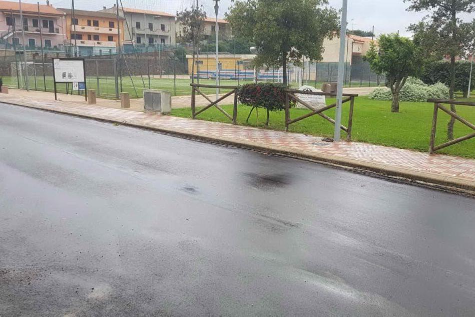 Il nuovo manto stradale a Bottidda (L'Unione Sarda - Caria)