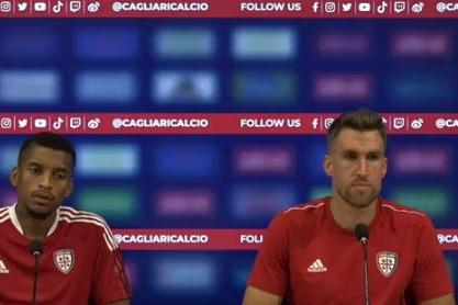 Dalbert e Strootman in conferenza stampa