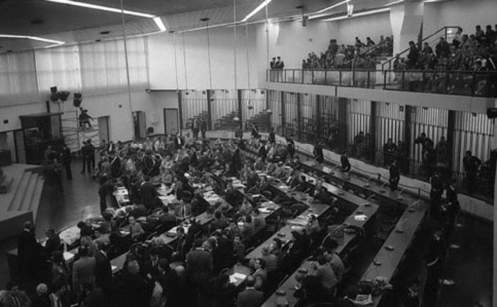 L'aula bunker al carcere palermitano dell'Ucciardone