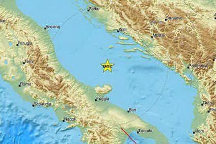 Sciame nel Mar Adriatico, oltre 65 scosse di terremoto in poche ore