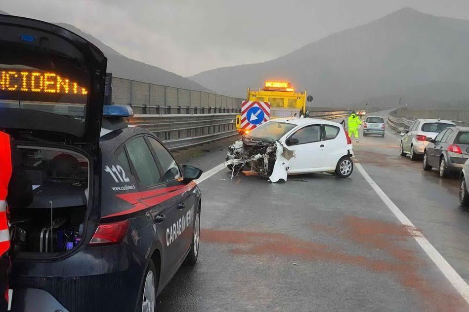 L'incidente (foto Serreli)