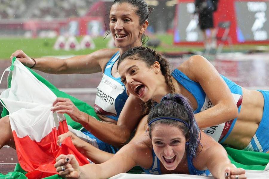 Ambra Sabatini, Martina Caironi e Monica Graziana Contrafatto (Ansa)