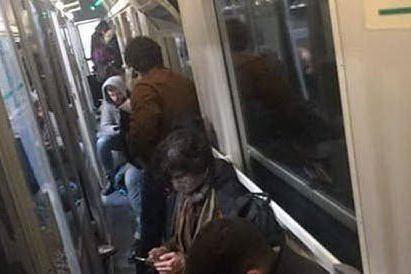 Treno in viaggio verso il Sud (foto Facebook)