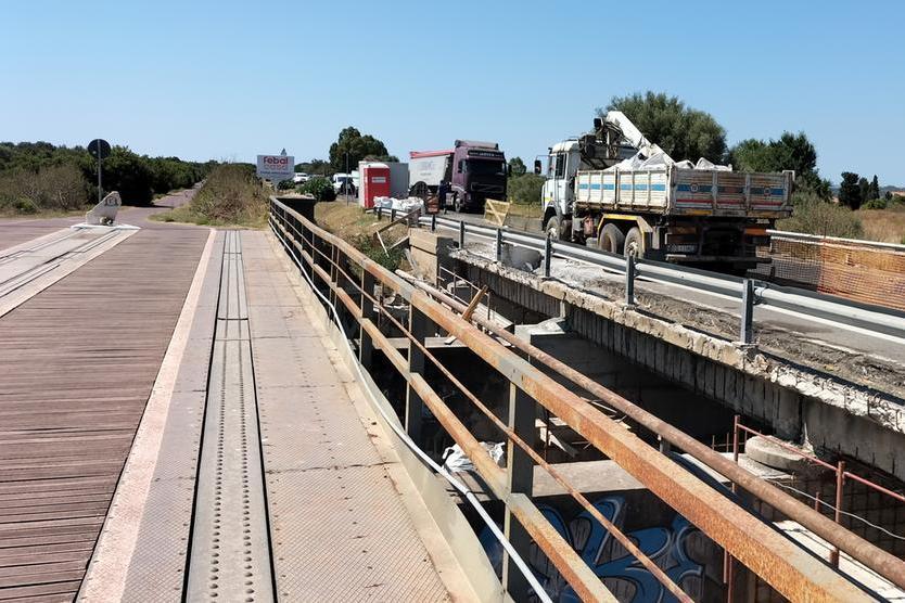 Carbonia, verso la riapertura del ponte sulla statale 126