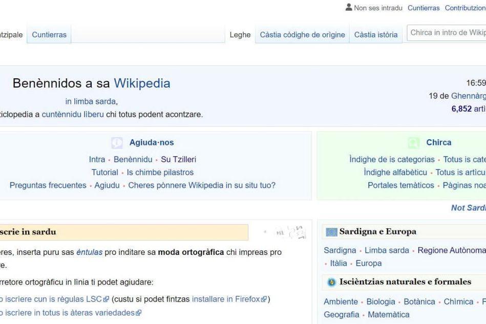 Wikipedia, la versione sarda