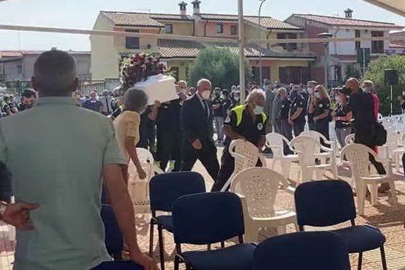 A Pabillonis i funerali di Alessandro Diana