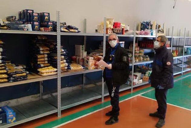 La sede della distribuzione dei viveri (foto Mariangela Pala)