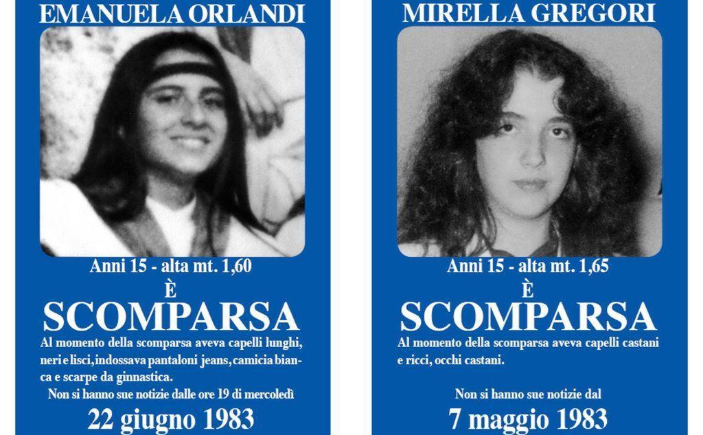 Emanuela Orlandi e Mirella Gregori (Ansa)