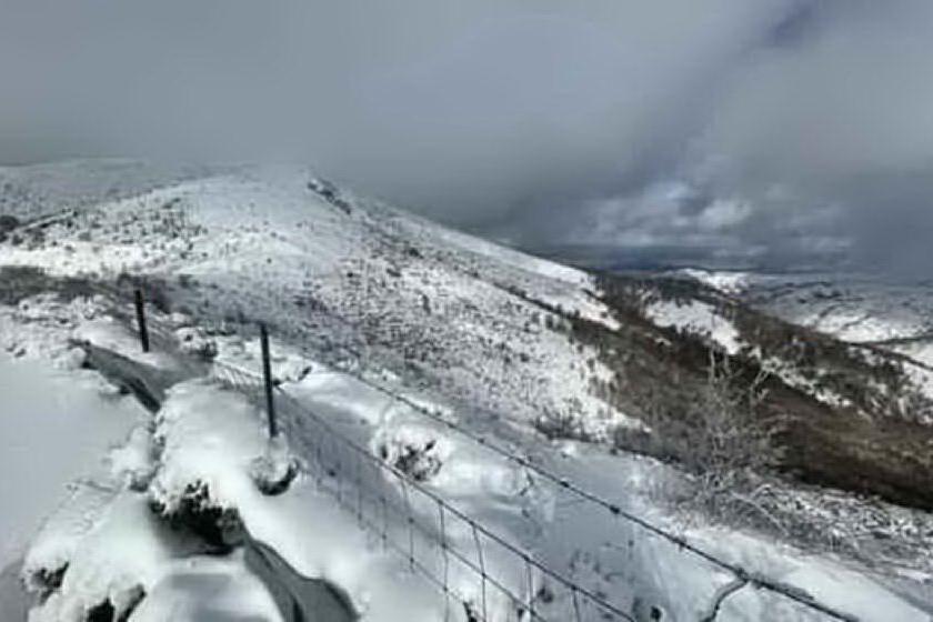 Nevica a Fonni e Seui, -2 sul Gennargentu
