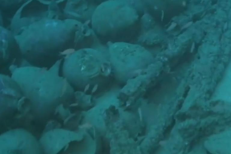 Una nave romana nel mare delle Egadi: la scoperta a 100 metri di profondità