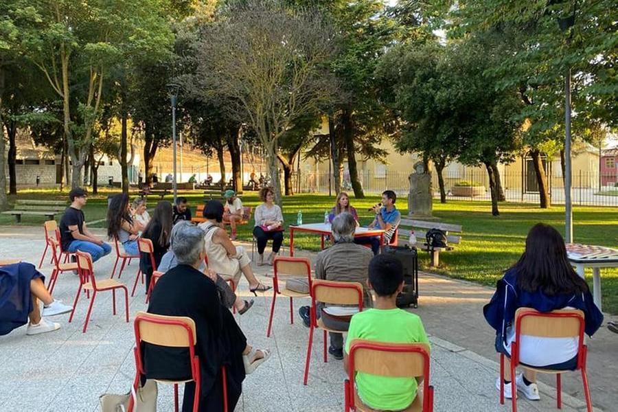 La serata a Burcei con Gianni Usai (foto del Comune)