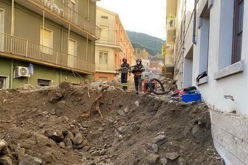 I danni a Bitti (archivio L'Unione Sarda)