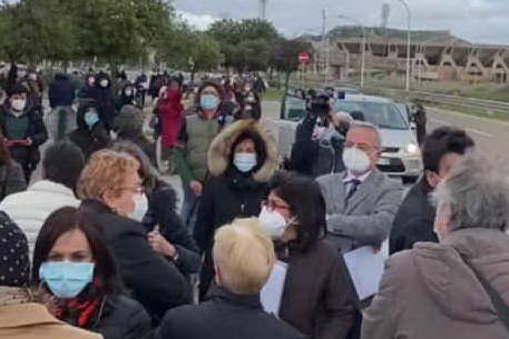Lo stop delle vaccinazioni alla Fiera di Cagliari