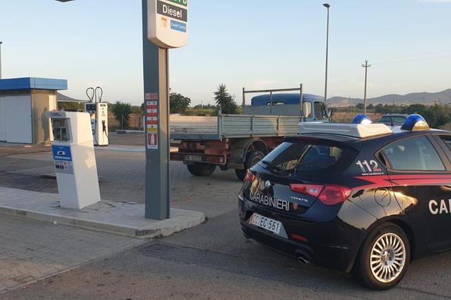 Il distributore preso di mira (Foto Carabinieri)