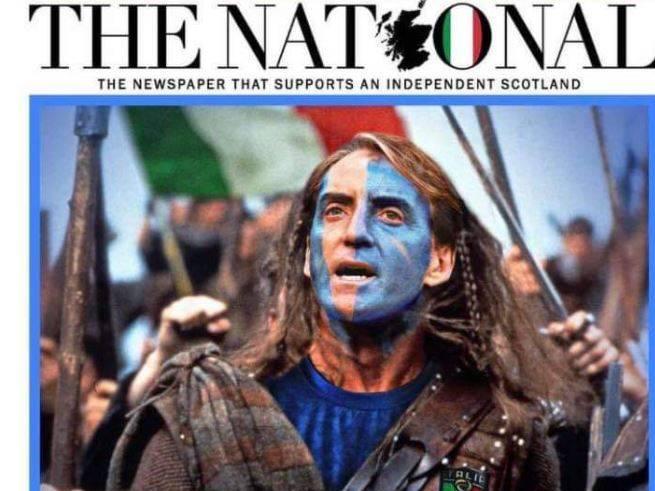 "Mancini come Braveheart, tutta la Scozia pronta a tifareItalia: ""Salvaci Roberto"""