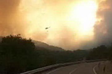 Bonorva, un altro incendio nella piana di Santa Lucia