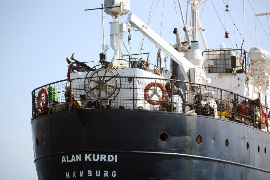 Dopo sette mesi la Alan Kurdi riparteda Olbia