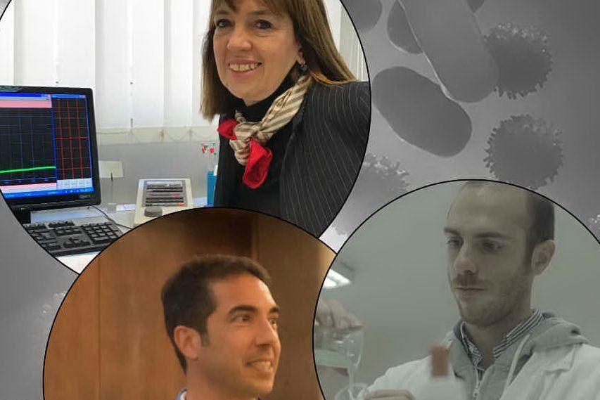 Sergio Murgia, Chiara Sinico e Michele Schlich (foto @UniCa)