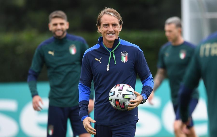 Il ct dell'Italia, Roberto Mancini (Ansa)