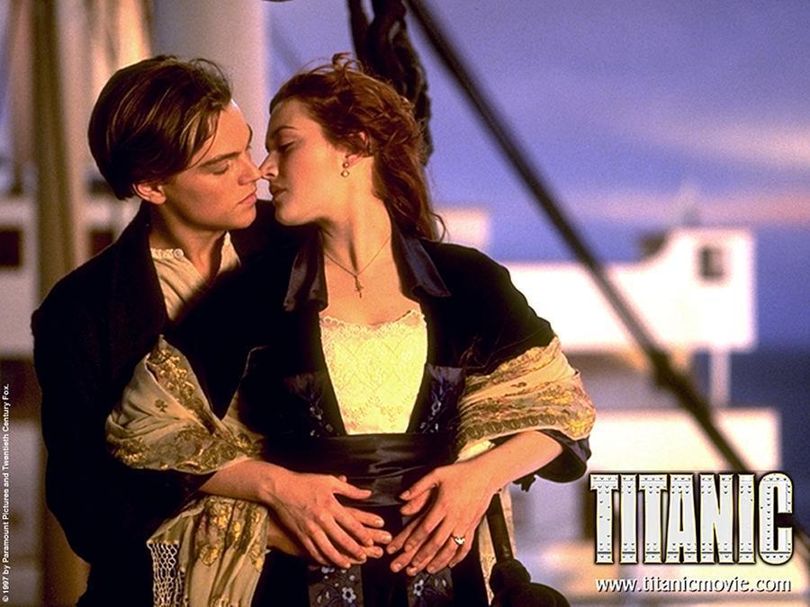 L'immagine-icona del film Titanic (foto archivio L'Unione Sarda)