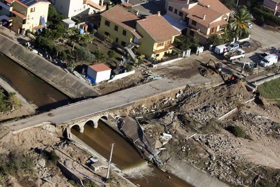 I danni provocati dall'alluvione a Olbia