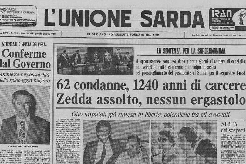 #AccaddeOggi: 20 dicembre 1982, si chiude il processo contro la Superanonima
