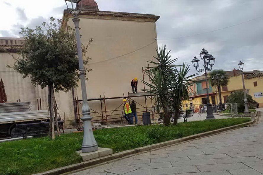I lavori (foto Serreli)
