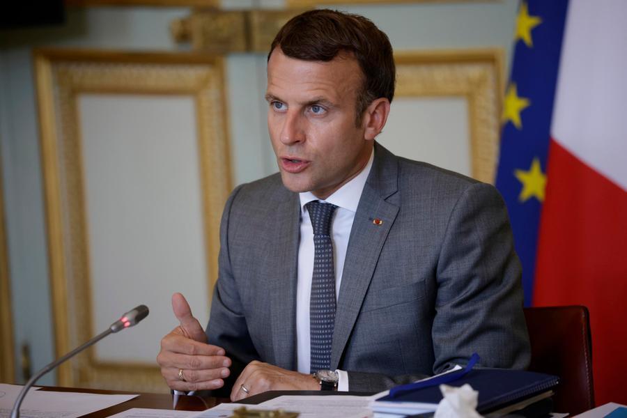 Il presidente francese Emmanuel Macron (Ansa)